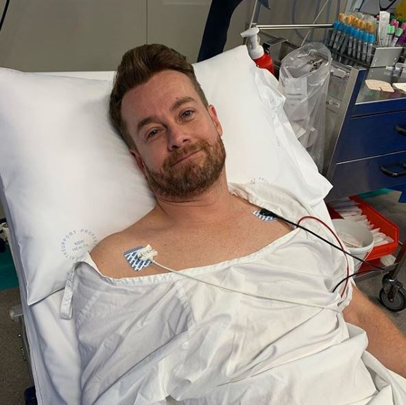 Chezzi shared this photo of Grant recovering in hospital. *(Image: @chezzidenyer/Instagram)*