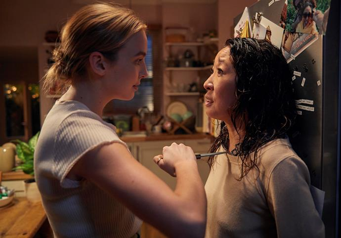 Villanelle (Jodie Comer) and Eve (Sandra) in *Killing Eve's* first season (Image: ABC).