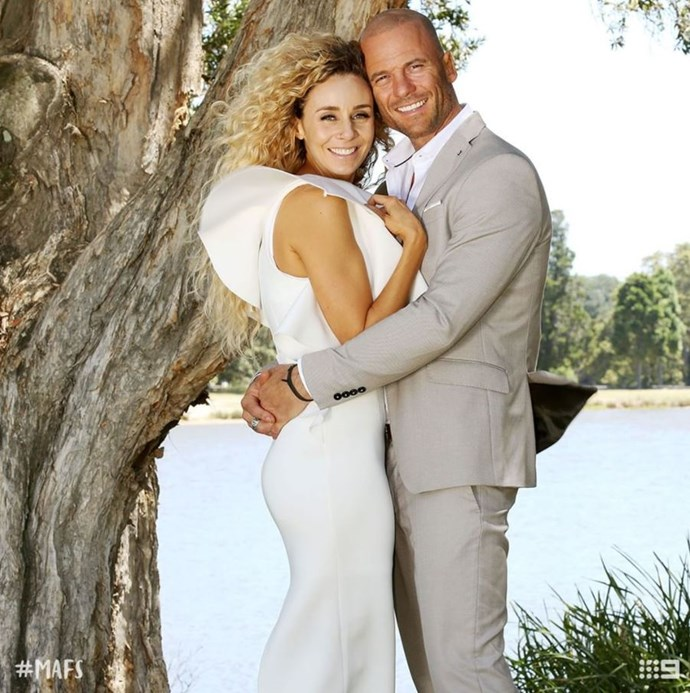Heidi and Mike at their final vows. *(Source: Channel 9)*