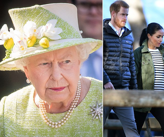 The Queen is having the last say when it comes to Baby Sussex. *(Images: Getty)*