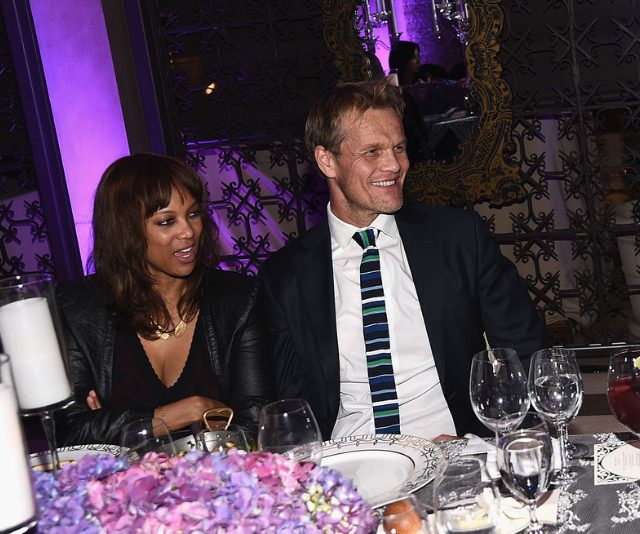 **York:** Tyra Banks and Erik Asla picked this powerful sounding moniker for their little boy. *Image: Getty.*