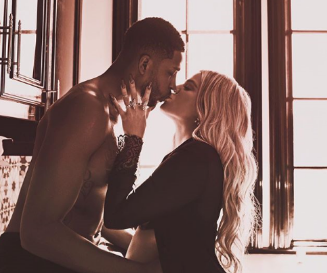 """**True:** Khloe Kardashain and Tristan Thompson took inspiration from the family tree - [True](https://www.nowtolove.com.au/celebrity/celeb-news/new-picture-of-chicago-west-and-true-thompson-49508