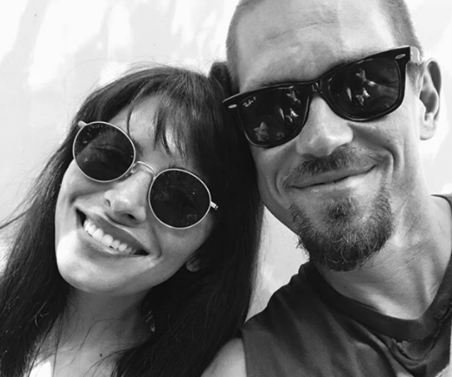 **Violet:** *Shameless* star Steve Howey and his wife, actress Sarah Shahi chose Violet Moon for their daughter and Knox Blue for her twin brother. *Image: Instagram/SteveHowey.*