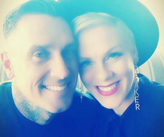 "**Jameson:** Pink and her motocross husband, Carey Hart chose the super-cool sounding [Jameson Moon](https://www.nowtolove.com.au/celebrity/celeb-news/pinks-daughter-is-not-thrilled-with-her-new-brother-33226|target=""_blank"") for their son. *Image: Instagram/Pink.*"