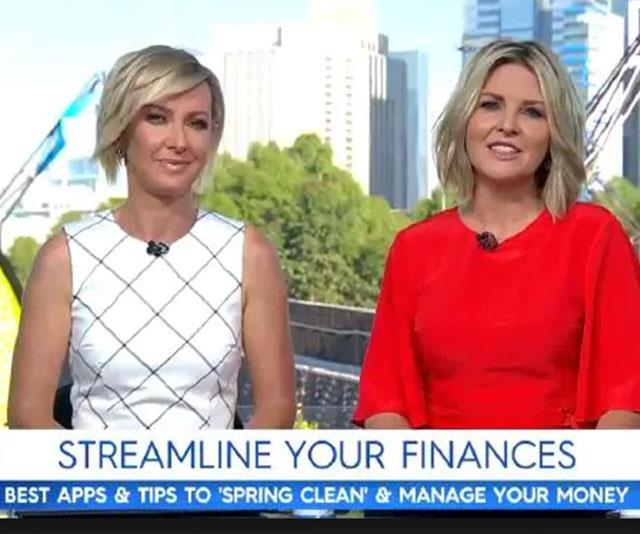 Radio silence: Deb and Georgie don't speak to each other off air. *(Image: Today Show)*