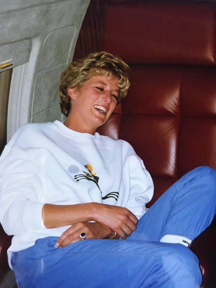 Diana shone in this stunning unseen picture. *(Image: Twitter / @MoncktonR)*