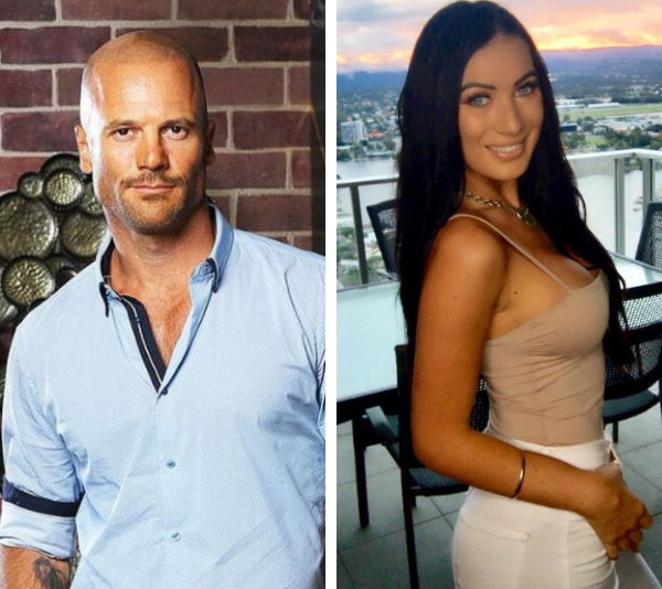 Mike Gunner and rumoured new girlfriend Casey Stewart. *(Source: Channel 9//Instagram @casey_stewart)*