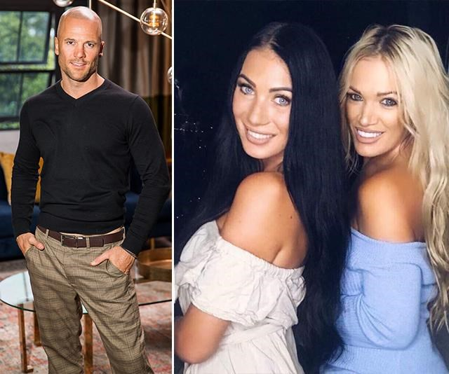 Mike inset with girlfriend Casey on the left and mum Gina on the right both look like MAFS stars! *(Images: Channel Nine/Instagram @casey_stewart)*