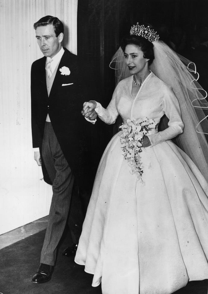 The glamorous pair made history – theirs was the first royal wedding to be televised and an estimated 300 million viewers across the globe tuned in.*(Image: Getty)*