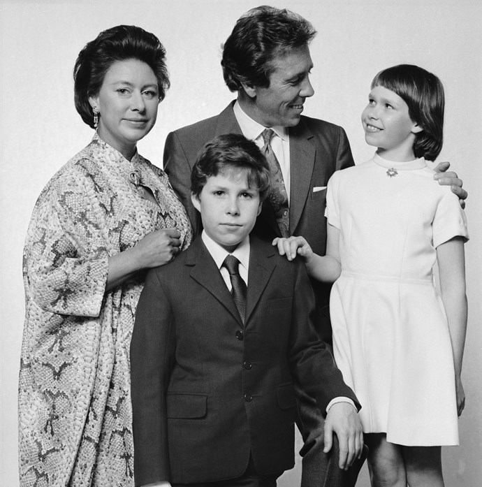 Margaret and Tony pose for a photo with their children David and Sarah. *(Image: Getty)*