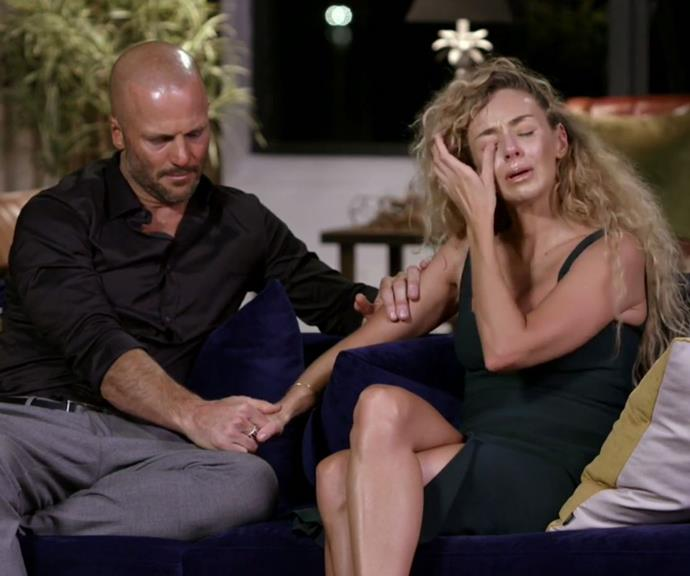 Heidi and Mike both broke down during the finale. *(Image: Channel 9)*