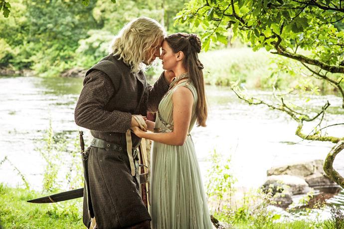 Jon is revealed to be the son of Lyanna Stark and Rhaegar Targaryen.