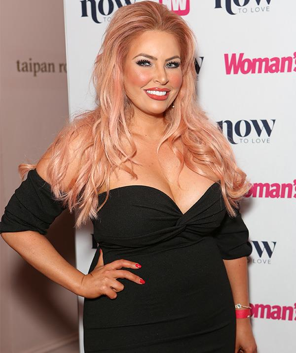 Another face from *MAFS* season 5 was the bubbly Sarah Roza, whose pink-tinted hair and bold makeup made a big statement. *(Image: Mega)*