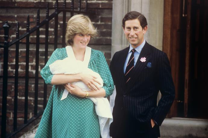 "When Charles and [Princess Diana](https://www.nowtolove.com.au/royals/british-royal-family/sarah-ferguson-princess-diana-tribute-54568|target=""_blank"") announced the arrival of their first child and future King of England, Prince William, the world watched with eagle eyes. Departing from the home birth tradition, Diana's choice to give birth at St Mary's Lindo Wing in London provided the ultimate spectacle. <br><br> It is understood that Princess Diana was induced for the birth of Prince William due to the widespread interest and scrutiny she was under. <br><br> Unlike his father, Prince Charles was present at the birth of his first son, describing the scenes outside the hospital as ""berserk with excitement"". *(Image: Getty)*"