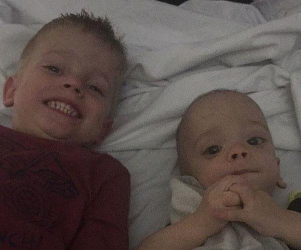 Leighton (right) and his half-brother, Noah.