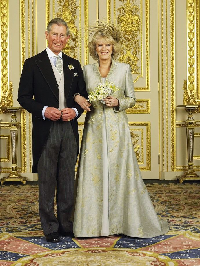 Prince Charles and Camilla on their wedding day in 2005. *(Image: Getty)*