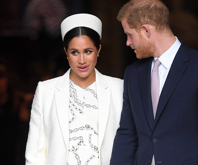 Meghan will reportedly snub royal tradition and give birth at home. *(Image: Getty)*