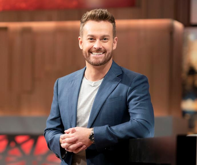 Grant in a promo shot for Celebrity Name Game. *(Image: Channel 10)*
