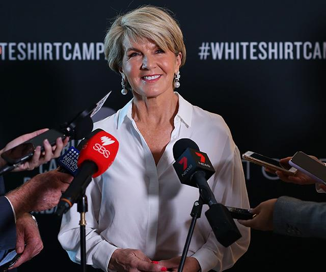 Julie Bishop just wore her most important outfit to date. *(Image: Getty)*