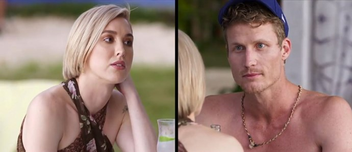 Alex and Richie during their tense convo. *(Source: Network Ten)*
