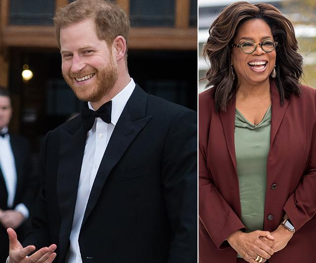 Prince Harry and Oprah are teaming up for a worthy cause. *(Image: Getty)*