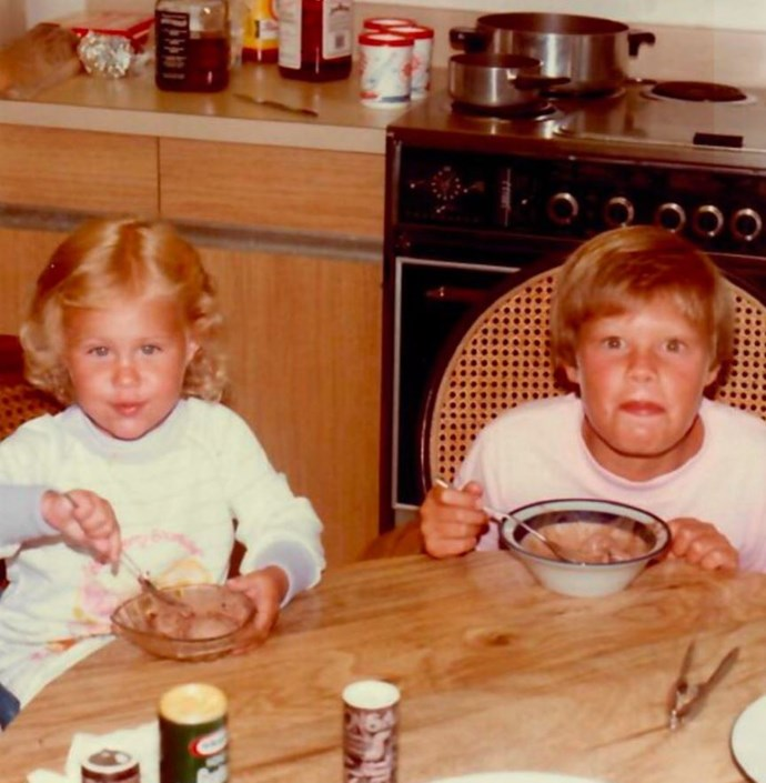 """American television show host Ryan Seacrest and sister Meredith were thick as thieves then, and they still are now: """"My best friend who also happens to be my sister @mmseacrest. Happy #NationalSiblingsDay! #tbt,"""" Ryan penned. *(Image: Twitter / @ryanseacrest)*"""