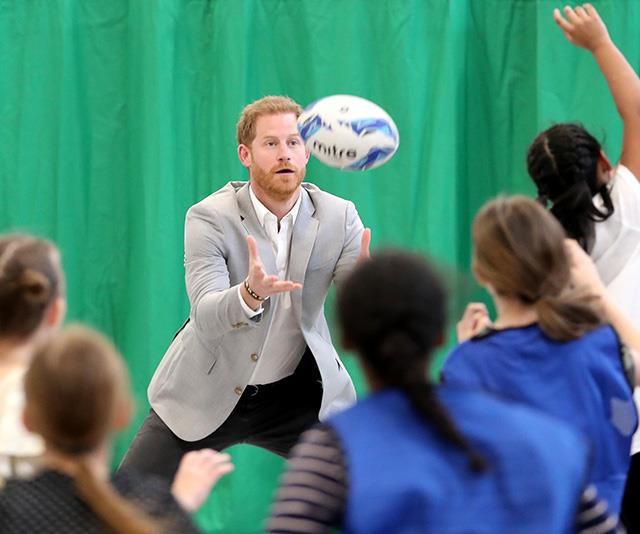 Prince Harry joined in on fun and games during the event. *(Image: Getty)*