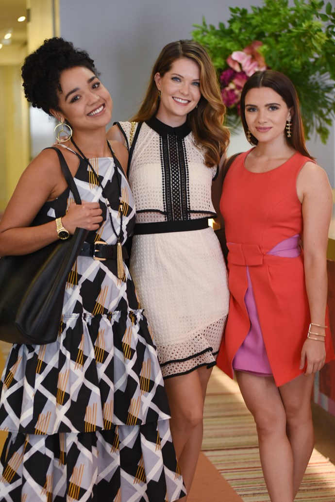 The trio work at Scarlet on social media, fashion and writing, respectively. *(Image: Supplied)*