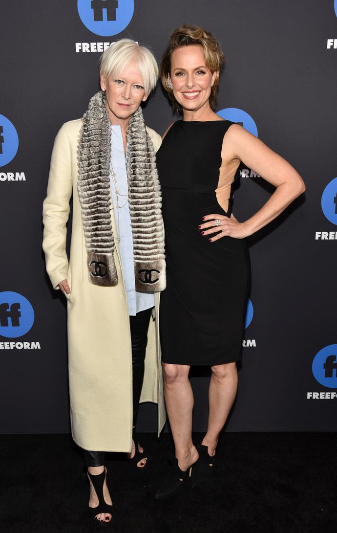 When art imitates life! Joanna Coles and Melora Hardin on the red carpet together. *(Image: Getty)*