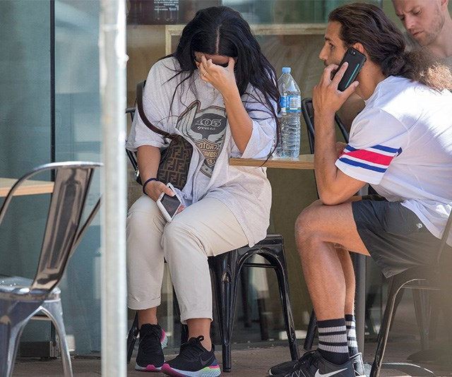 Falling apart: Martha was seen looking distraught while out with 'husband' Michael. *(Image: Exclusive/DIIMEX)*