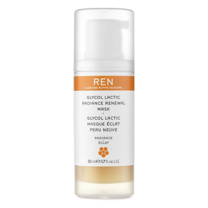 "Ren Glycol Lactic Radiance Renewal Mask $71 *([mecca.com.au](https://www.mecca.com.au/ target=""_blank"" rel=""nofollow"")).*"