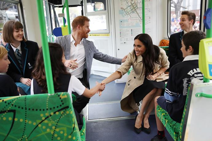 """Remember that time Harry and Meghan caught a tram in Melbourne [during the royal tour last year?](https://www.nowtolove.com.au/royals/british-royal-family/prince-harry-meghan-markle-baby-names-51916