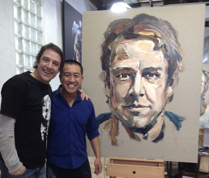 Samuel with artist and comedian, Anh Do. *(Source: Facebook / Love Your Sister)*