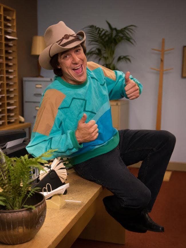 Samuel as Molly Meldrum in *Molly*. *(Source: Channel 7)*