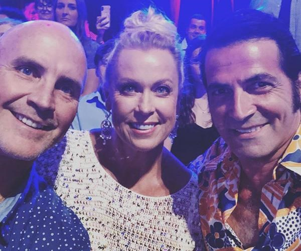 Team Jett at *Dancing With The Stars:* Grant Kenny, Lisa Curry and her husband Mark Tabone (Image: Instagram @lisacurry).