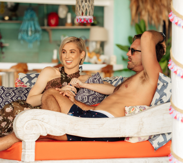 James and Alex Nation on the set of *Bachelor in Paradise*. *(Source: Network Ten)*