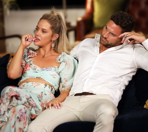 Jess and Dan on the set of *Married at First Sight*. *(Source: Channel 9)*