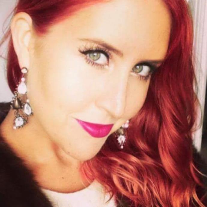"""Considering going back to flaming red to match my personality. Thoughts?"" she captioned this pic. *(Image: @laurenhuntriss/Instagram)*"