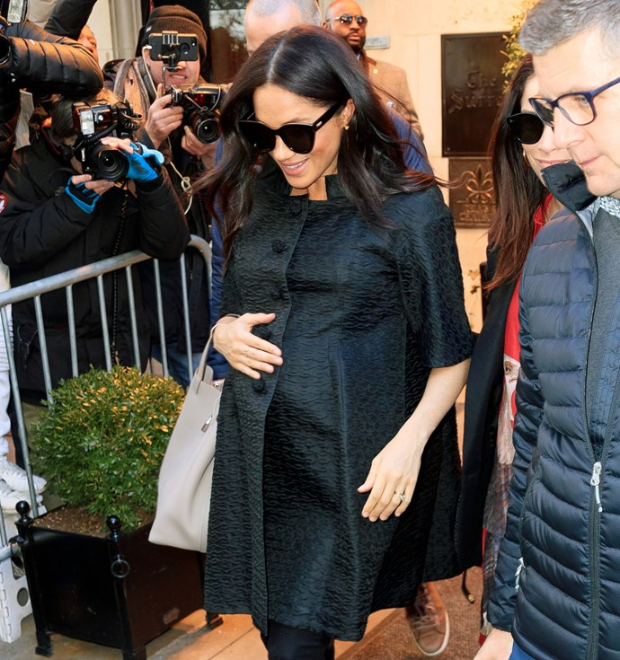 Meghan will have a hand in choosing the right nanny for her new baby. *(Image: Getty)*