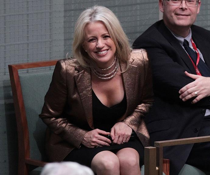 "At first glance this necklace doesn't look like much, but it accidentally landed Chloe in a lot of trouble. She wore this glitzy outfit to watch Bill Shorten's 2017 budget reply speech and was criticised for her glamorous look, with many claiming she appeared ""out-of-touch"" to everyday Australians. Turns out the necklace was a cheap purchase from her local shopping centre. *(Image: AAP)*"