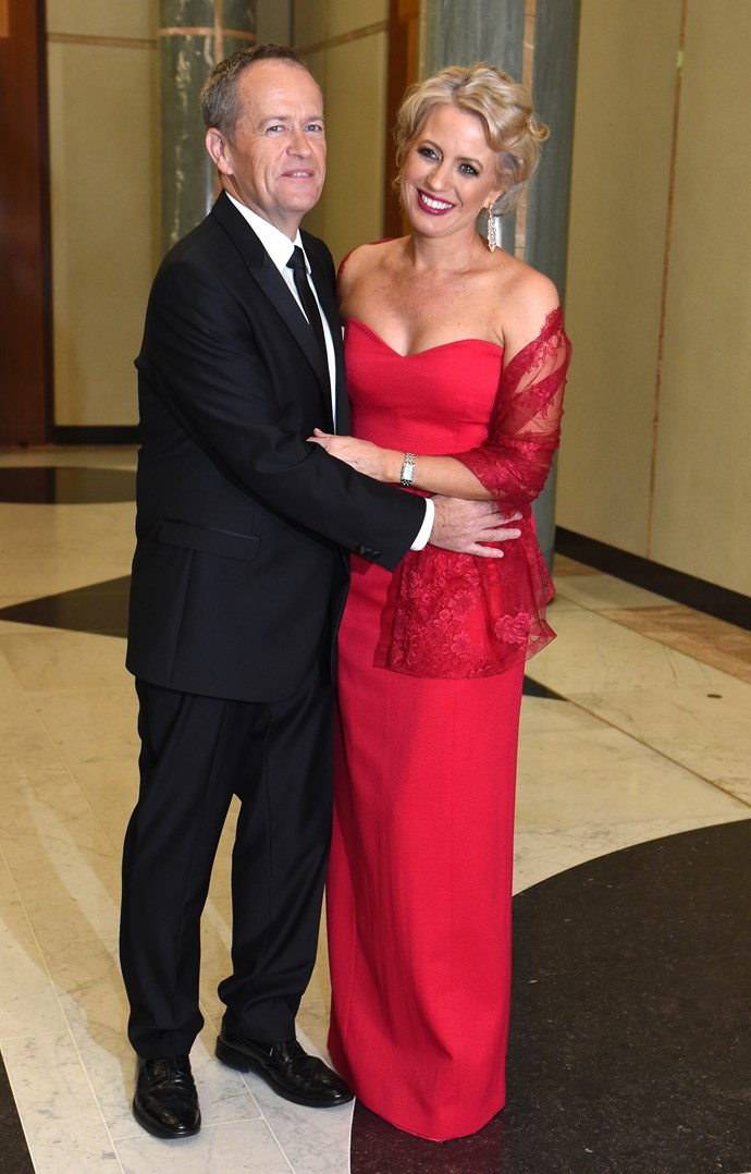 Another fabulous frock for another Midwinter Ball! The couple are pictured at the 2016 bash. *(Image: Getty)*