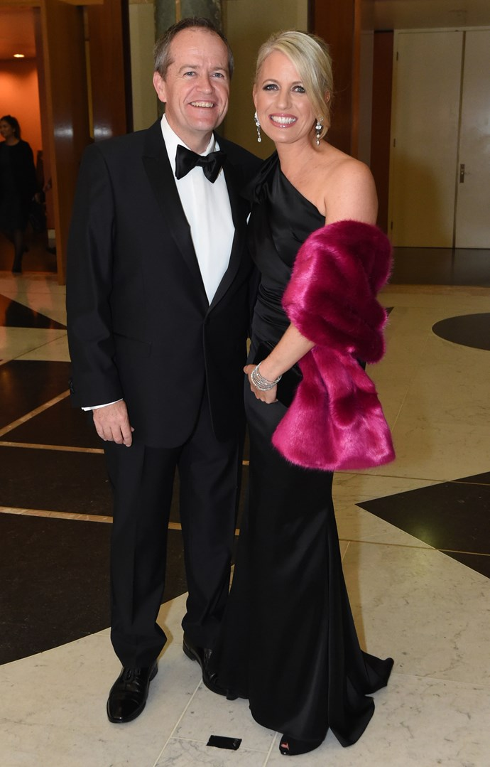 The happy couple at the 2015 Midwinter Ball. *(Image: Getty)*