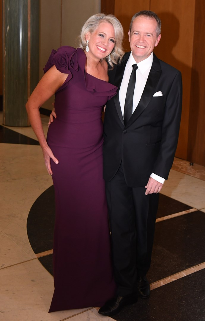 Chloe sure knows how to rock a ballgown! She's pictured here in a gorgeous plum frock at the 2017 Midwinter Ball, one of the highlights on Canberra's social calendar. *(Image: Getty)*