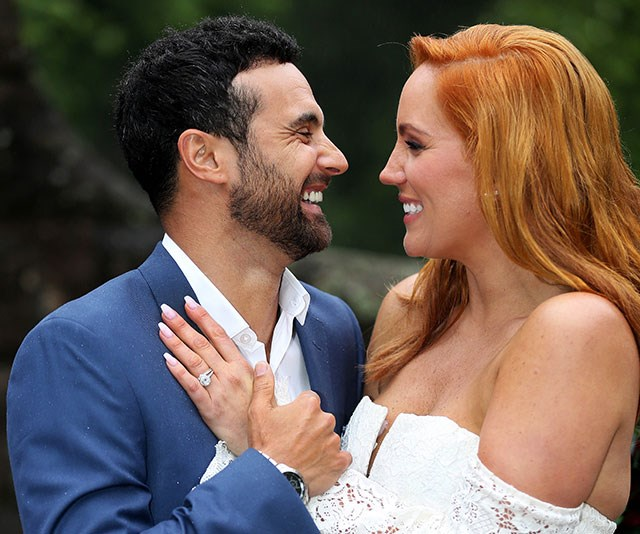 The *MAFS* power couple have their sights set on a TV career. *(Image: Channel Nine)*