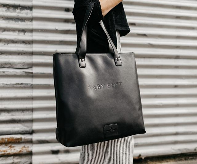 Found! The ultimate stylish nappy bag that you'll *actually* want to throw over your shoulder. *(Image: FELIX + STONE)*