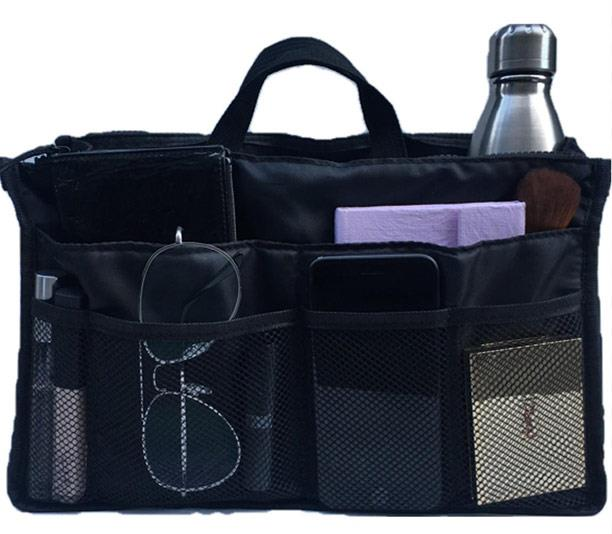 With one quick insert, their chic totes are transforrmed into a nappy bag. *(Image: Prene Bags)*