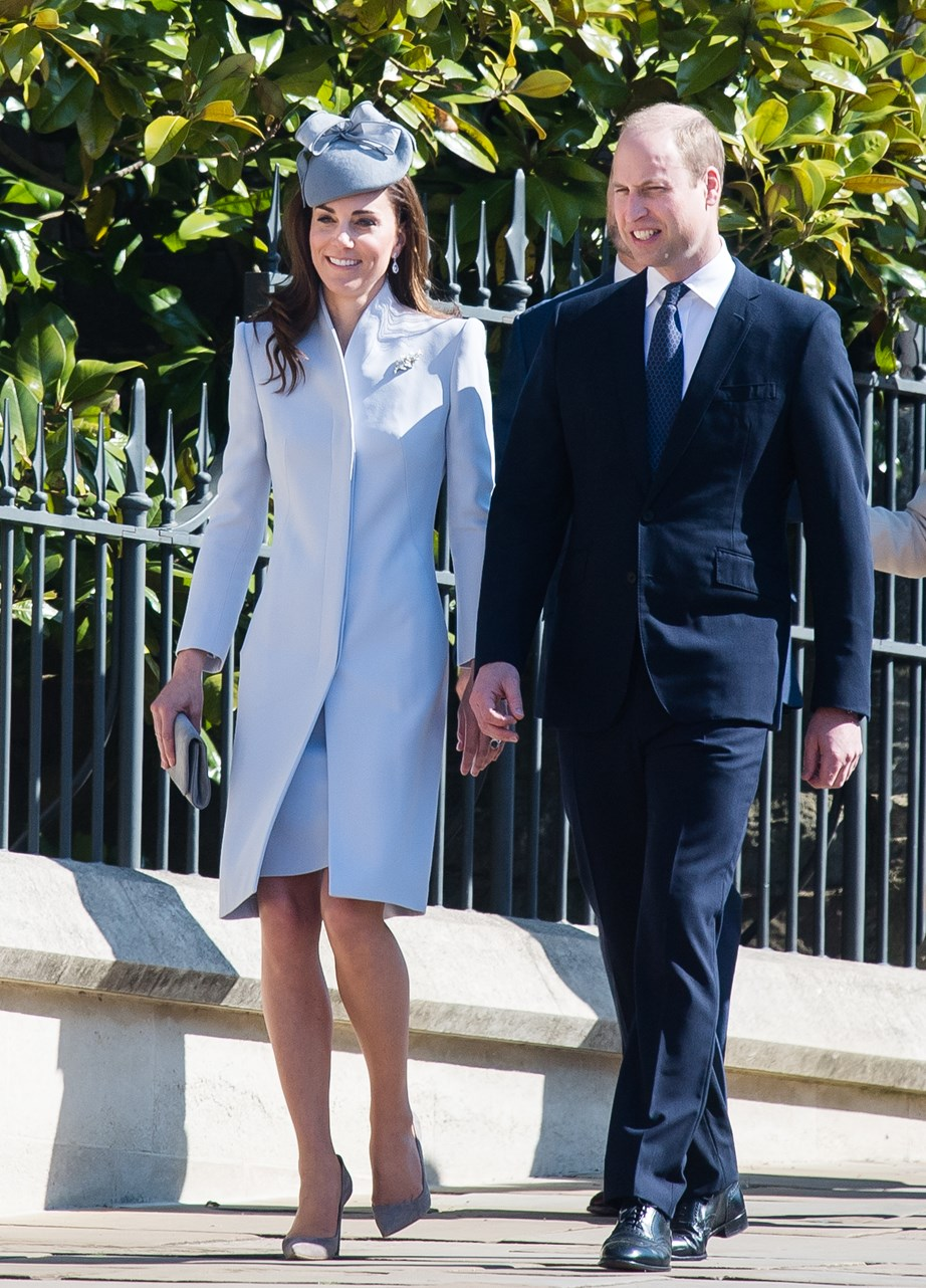 Kate re-wore an Alexander McQueen outfit to the service, which she previously wore during a trip to Sydney in 2014. *(Image: Getty)*