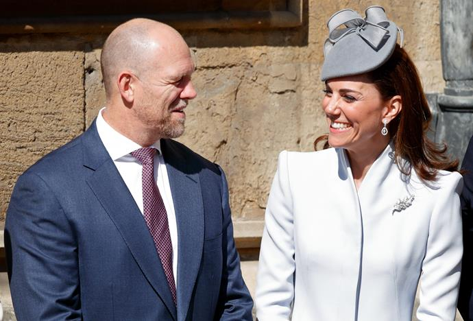 Duchess Catherine shares a laugh with Mike Tindall. *(Source: Getty Images)*