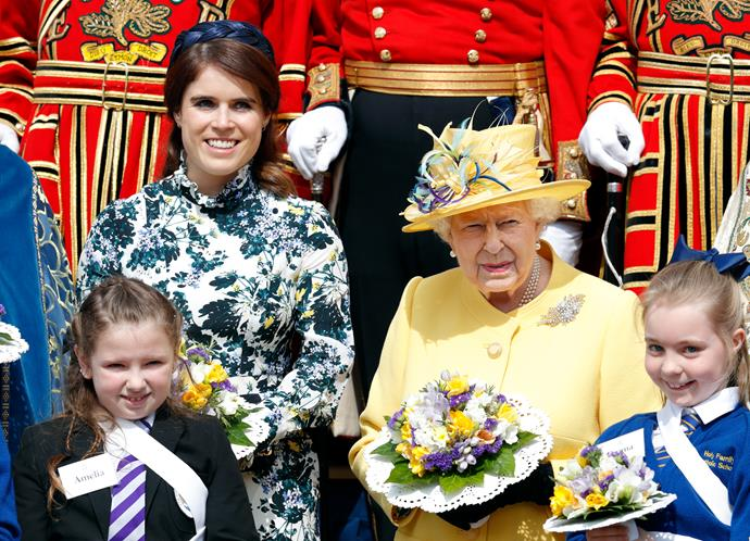 Princess Eugenie and the Queen at Thursday's Maundy service,
