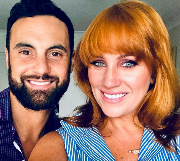 The happy couple, Cam Merchant and Jules Robinson. *(Source: Instagram @cammerchant)*
